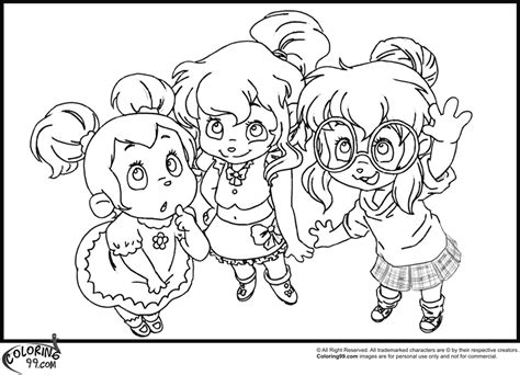 Alvin Chipettes Coloring Pages Download And Print For Free