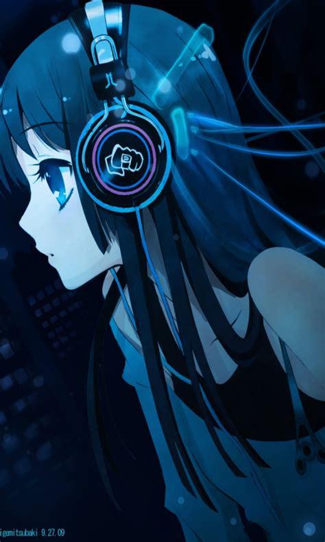 anime girl  headphones fondos de pantalla gratis