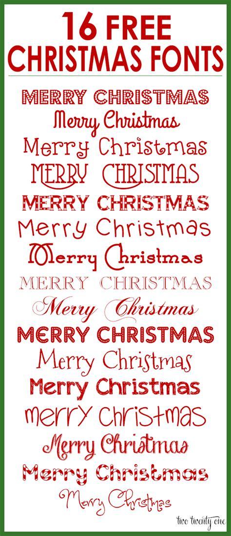 Free Christmas Fonts