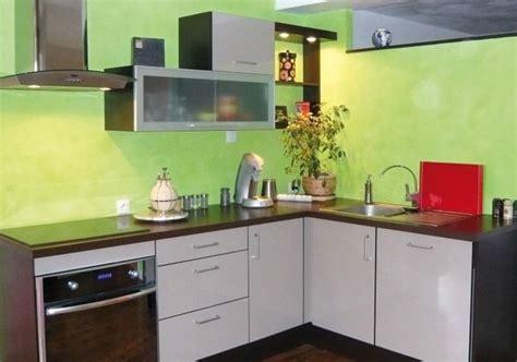 cuisine mur vert chaux colorée vert anis véritable deco intérieur extérieur