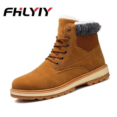 Men Snow Boots Shoes Autumn Winter Plush Warm Ankle