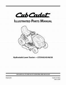 Cub Cadet Lawn Hydrostatic Lawn Mower Service Parts Manual