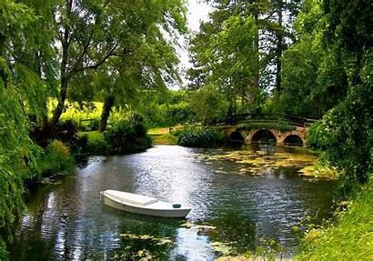 Pond Bridge Nice Place Nature Lake Calm