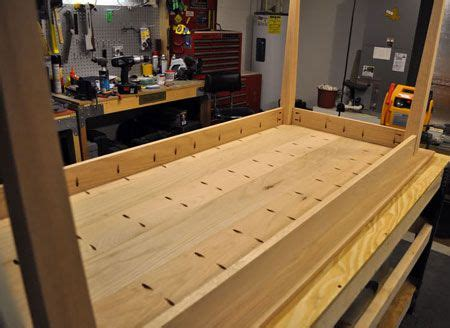 dining hall table constructed  kreg jig diy wood