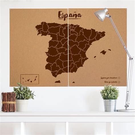 Mapa decorativo de España en corcho XXL La tienda de