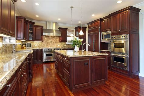 Kitchen Floor Ideas With Cherry Cabinets by 25 Cherry Wood Kitchens Cabinet Designs Ideas
