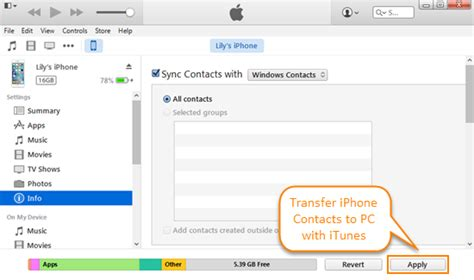 copy to iphone without itunes how to transfer contacts from iphone to pc with without itunes