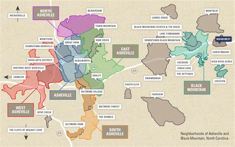 neighborhood map  asheville black mountain nc greybeard realty