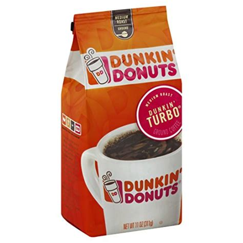 Not just that, but everything about dunkin' just makes me happy. Dunkin Donuts Dunkin Turbo Medium Roast Ground Coffee 311g Bag - Coffee Beansv