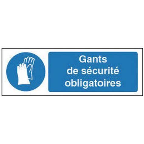 bureau de contr e obligatoire panneau d 39 obligation port de gants de protection