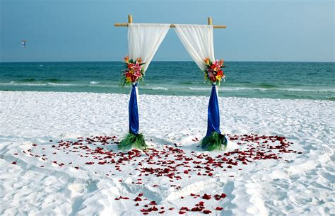 florida barefoot bamboo arbor beach wedding packages