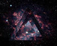 galaxy triangle tumblr  Hipster Triangle Galaxy Wallpaper