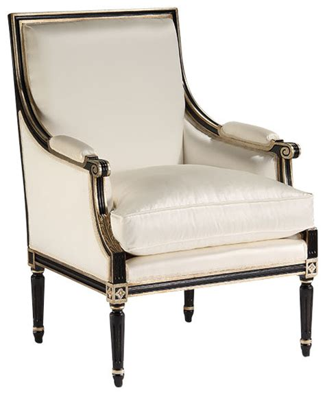 louis xvi upholstered armchair traditional armchairs