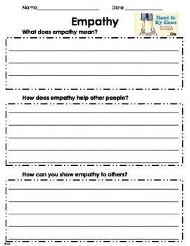 empathy worksheet by teacherlcg teachers pay teachers