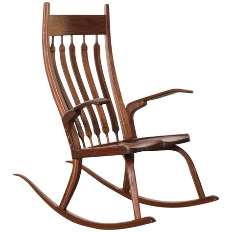 california craftsman wooden rocking chair walnut for