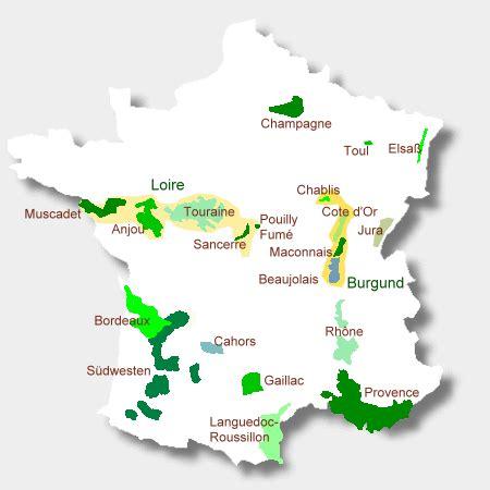 weinregionen frankreich karte kleve landkarte