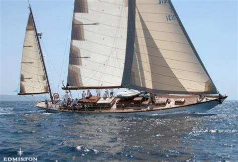 Sailing Boat Yawl by Sailing Yacht Ivanhoe Bermuda Yawl Yacht Harbour