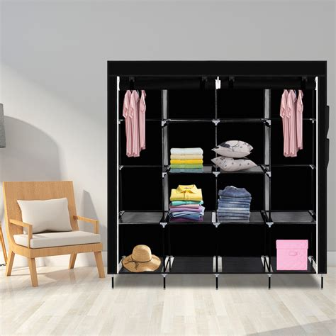 Heavy Duty Wardrobe Closet by 67 Quot Portable Heavy Duty Clothes Closet Wardrobe Clothes