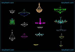 Ceiling lamps dwg autocad drawing hanging cad block
