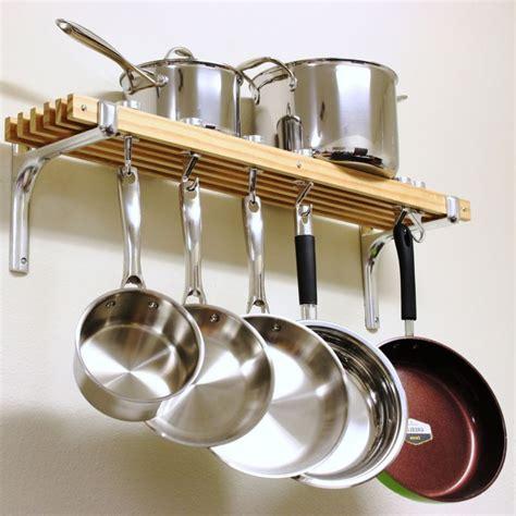 pan pot rack kitchen cookware wall mount hanging metal