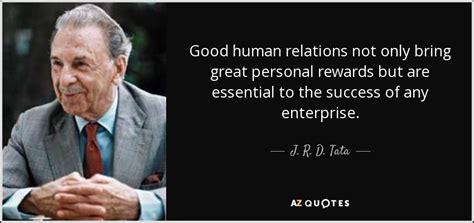 tata quote good human relations   bring