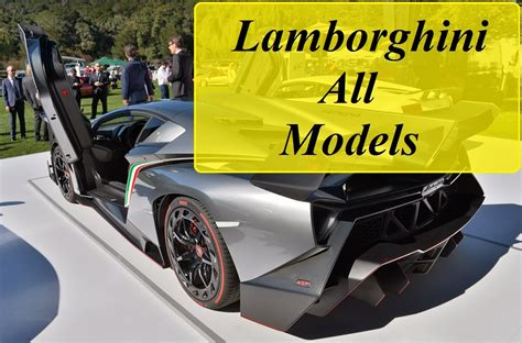 Lamborghini All Models From Beginning (1964-2016) - YouTube