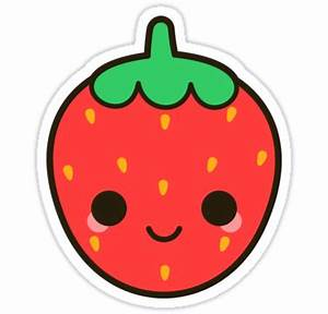 """""""Cute strawberry"""" Stickers by peppermintpopuk Redbubble"""