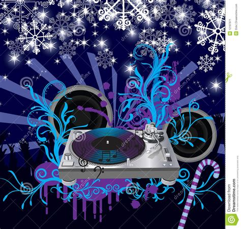 abstract vector christmas concert postermusic po stock