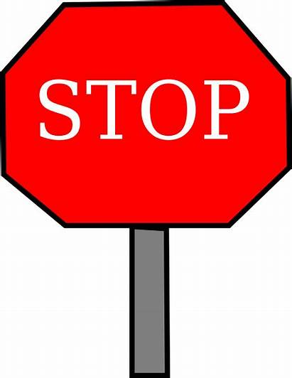 Stop Sign Clip Clipart Sigh Drawing Stopping