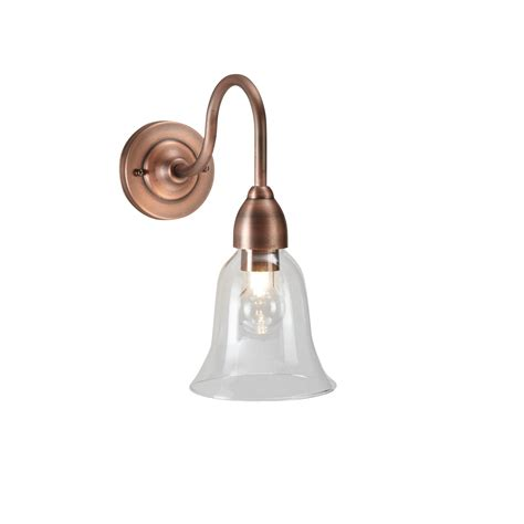 blooma ismene copper effect external wall light