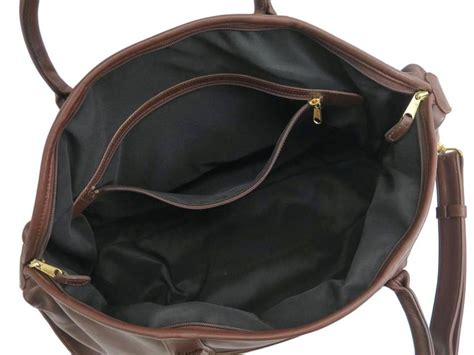 coach vintage brown leather mens carryall travel duffle bag  lock  key  stdibs