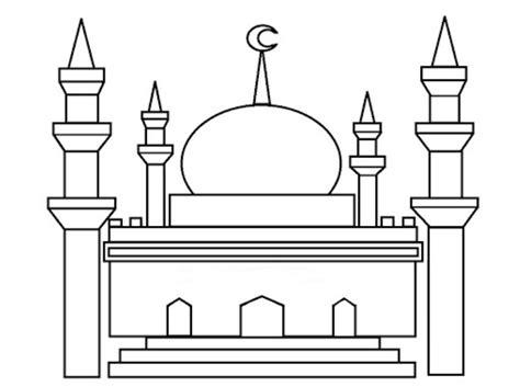 5 tips mewarnai gambar masjid hasil bagus gambar