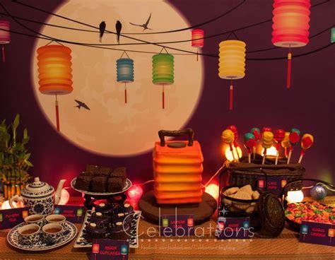 Mid-Autumn festival dessert table, also known as lantern