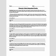 Character Traits Worksheet By Msb  Teachers Pay Teachers