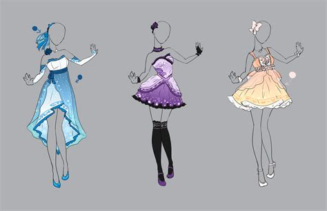 .Outfit Adopt Set 17 (CLOSED). by Scarlett-Knight on DeviantArt