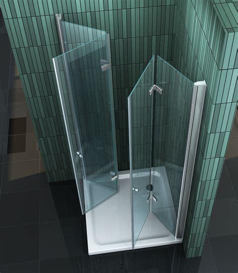 Faltbare Duschwand Für Dusche by Space Faltbare Glas Duschkabine Eckeinstieg Dusche