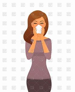 Sick woman catched a cold Vector Image #62619 – RFclipart