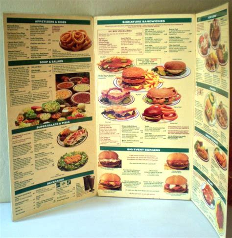 1992 Laminated Menu Elias Brothers Big Boy Restaurant from ...