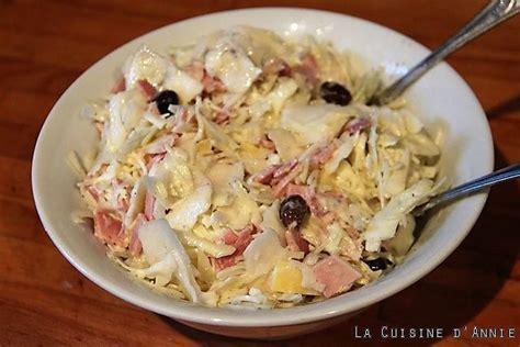 fiches cuisine recette salade de chou blanc à la crème la cuisine