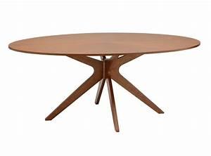 Table Ovale Design : table manger design ovale en ch ne chocolat conan miliboo ~ Teatrodelosmanantiales.com Idées de Décoration
