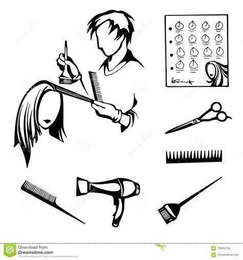 hairstyles stock vector illustration  brush stylized