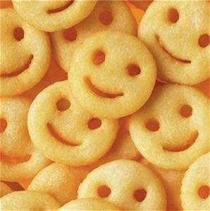 Smiley face fries were the best in elementary school ...