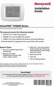 Honeywell Thermostat Installation Manual Th8000