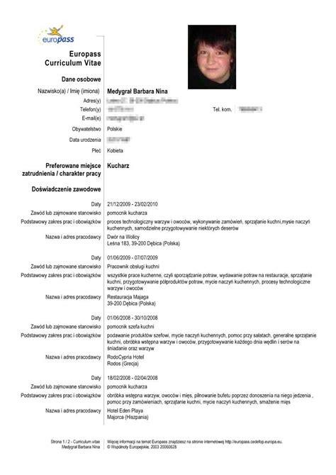 Cv Europass Model Completat Franceza Example Good Resume