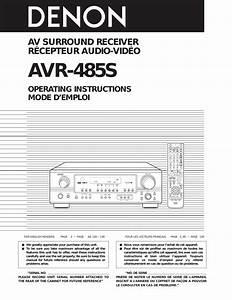 Denon Avr 485s Users Manual