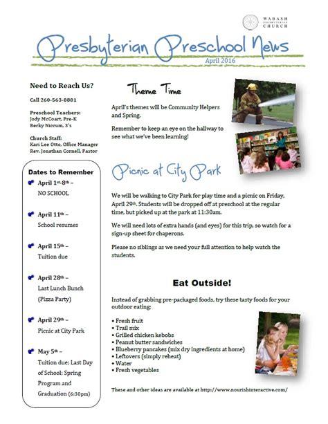 preschool april newsletter preschool newsletter april 2016 171 wabash presbyterian church 477