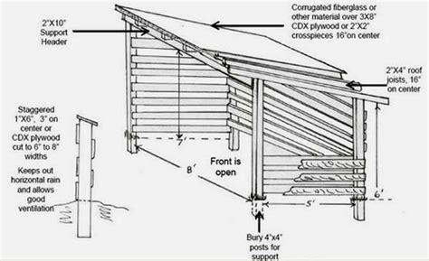 firewood shed plans   build diy