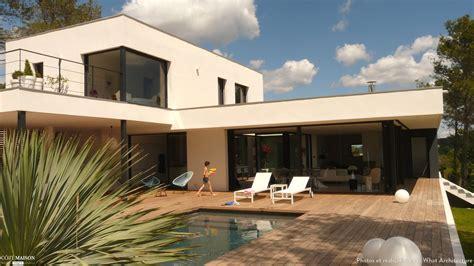 plan maison moderne  chambres  avec etage systembase