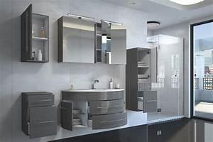 Bad Set Grau : badm bel set 5tlg esdra 120 cm halbrunder waschplatz hochglanz grau ~ Indierocktalk.com Haus und Dekorationen