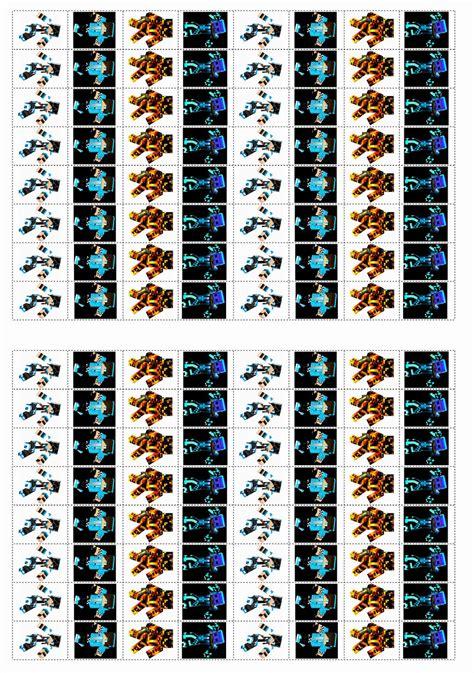 minecraft stickers birthday printable
